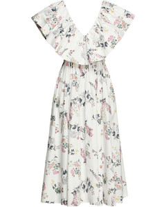 Taupe belted wool-blend jacket
