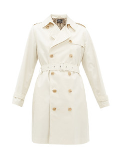 Josephine double-breasted cotton trench coat