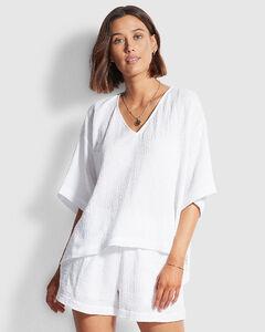 Cfst030 Women's Light Blue Cotton Skirt