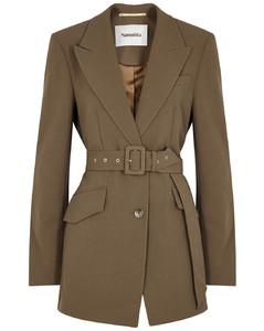 Honor brown belted blazer