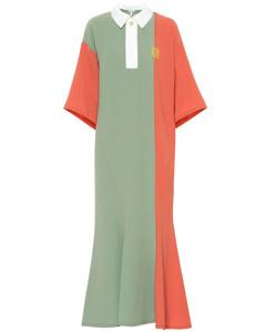 Colorblocked midi dress