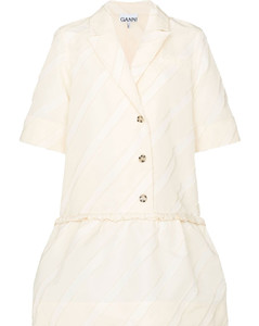 Soft leather trench coat