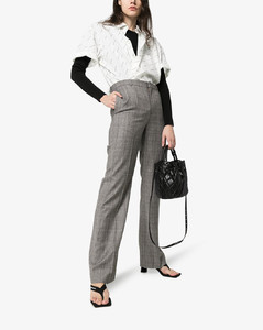 check tailored wool trousers
