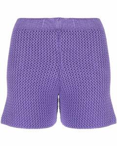 lilac knit shorts