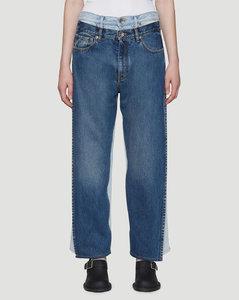 Vintage Wash Jeans in Blue
