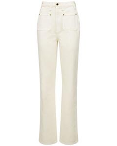 Isabella Cotton Denim Straight Jeans