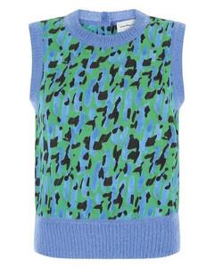 Leopard Printed Knit Vest