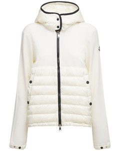 14 Gg Down Jacket W/tricot Knit Sleeves