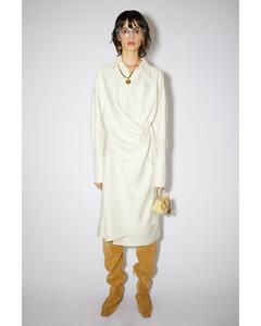 Shantung shirt dress