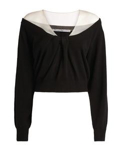 Sheer Yoke Sweater
