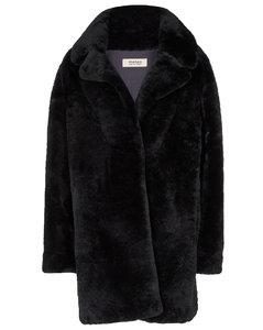 Meteo羊毛皮短大衣