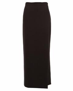 Laila grain-de-poudre wool wrap skirt