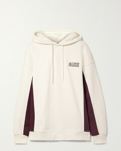 Software Isoli Embroidered Cotton-blend Jersey Hoodie