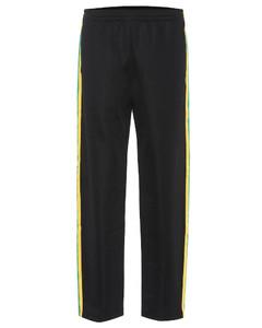 Face cotton-blend trousers