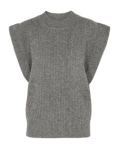 Bridget grey cashmere and wool-blend tank