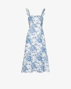 Spaulding Floral Print Linen Midi Dress