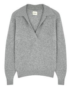 Jo grey stretch-cashmere jumper