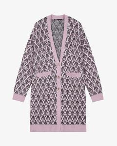 Marjac monogram alpaca-blend coat cardigan