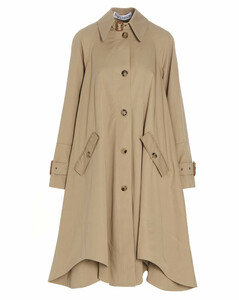Single-Breasted Asymmetric Trench Coat