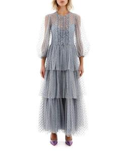 x Disney印花真丝斜纹布九分阔腿裤