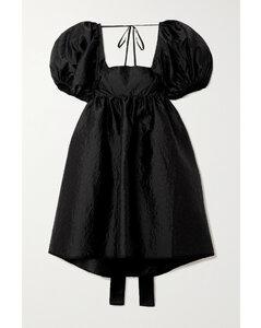 Tilde Oversized Tie-back MatelasséSatin Dress