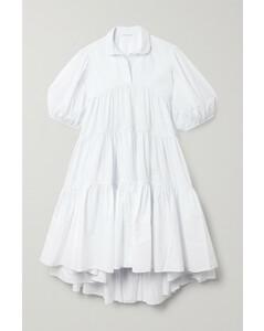 Jade Oversized Tiered Cotton-poplin Dress