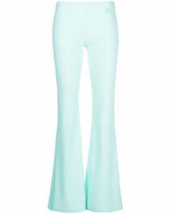 Wool inserts down jacket in black