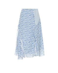 花卉雪纺半身裙