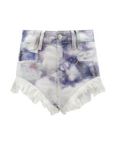 Eneida high-rise tie-dye denim shorts