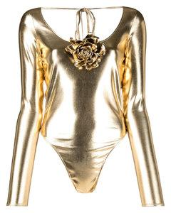 黑色徽标牛仔夹克