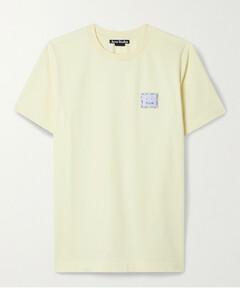 Appliquéd Stretch-cotton Jersey T-shirt
