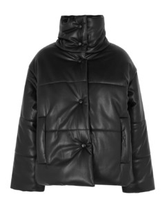 Hide black faux-leather jacket