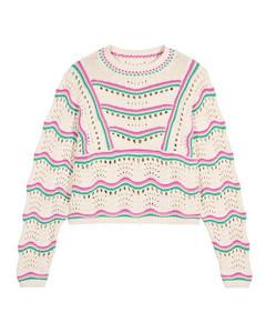 白色蕾丝百慕大短裤