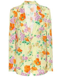 印花绉纱西装式外套
