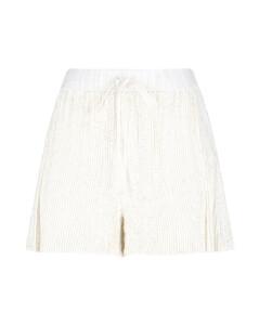 Faux-fur-trimmed wool minidress