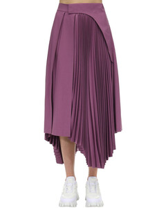 Pleated Cool Wool Skirt