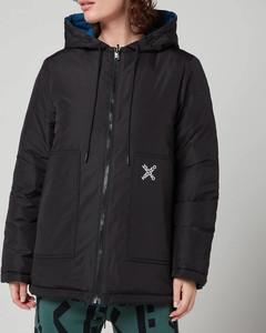 Women's Sport Reversible Waterproof Jacket - Black
