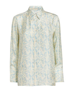 Branded-print cotton-blend jersey T-shirt