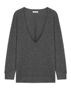 Baba dark grey cashmere-blend top