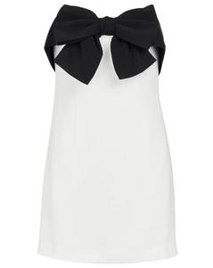 Off-shoulder bow-tie minidress