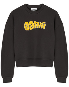 Isoli black logo cotton-blend sweatshirt