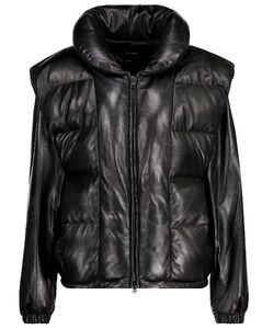 Malory填充皮革夹克