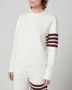 Women's 4-bar Sweatshirt In Classic Loopback - White