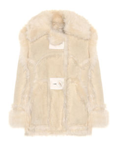 羊毛皮大廓形夹克