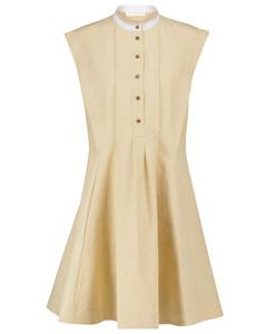 亚麻和棉质迷你连衣裙