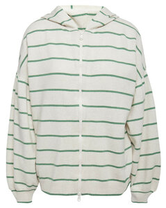 Striped wool, cashmere and silk-blend hoodie