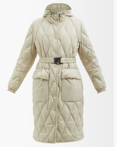 High-rise flared crepe trousers