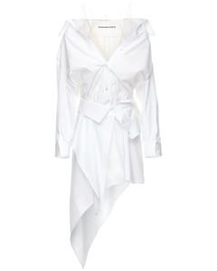 Deconstructed Cotton Poplin Mini Dress