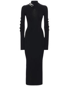 Turtleneck Midi Dress W/ Chain & Cutout