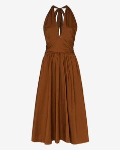 Moana flared halterneck dress